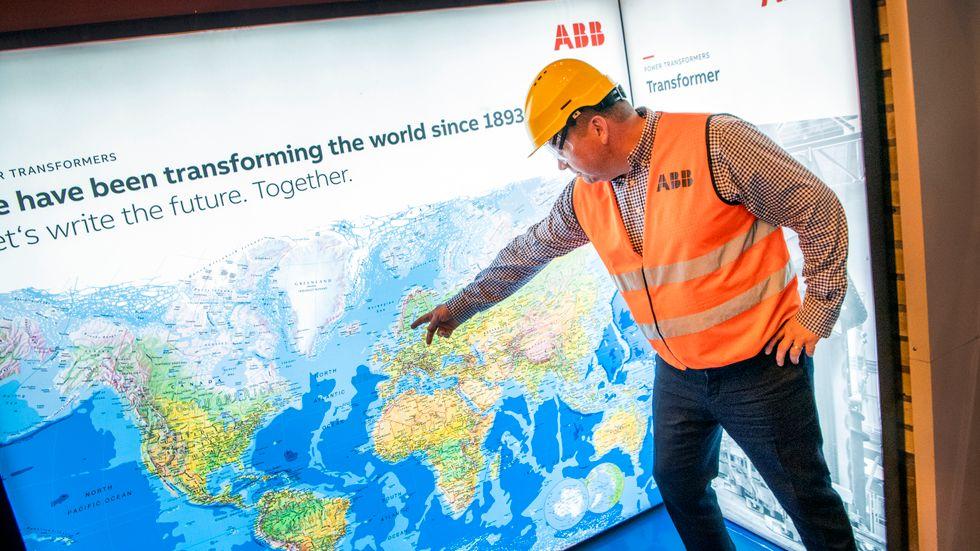 ABB har ett 50-tal nationaliteter anställda. Företaget ser hela världen som sin rekryteringsbas, säger Magnus Ström, platschef i Ludvika.