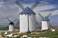 Väderkvarnar i Castilla-La Mancha.