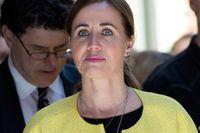 Sjukvårdslandstingsrådet Filippa Reinfeldt (M) vid invigningen av Sophiahemmets nya BB Sophia i april.