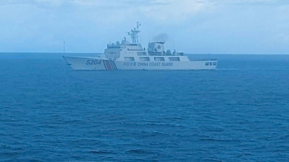 Kinesisk kustbevakning kontrollerar delar av Sydkinesiska sjön. Arkivbild.