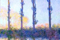 En av de popplarstudier som Claude Monet målade 1891 (beskuren).