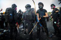 Studenter i Hongkong redo för konfrontation.