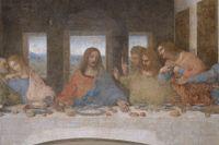 Muralmålning av Jesu sista måltid (1495–1498) av Leonardo da Vinci.