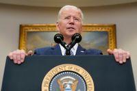 USA:s president Joe Biden varnar för nya terrorattacker mot Kabuls flygplats. Arkivbild.