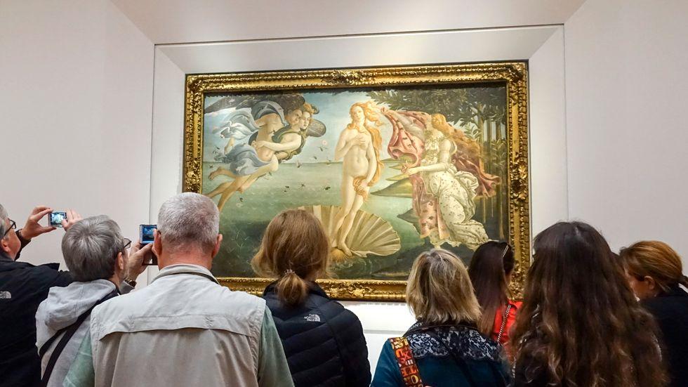 """Konstmuseet Uffizierna i Florens rasar mot porrsajten Pornhub som med utgångspunkt i """"Venus födelse"""" har skapat en porrfilm. Arkivbild."""