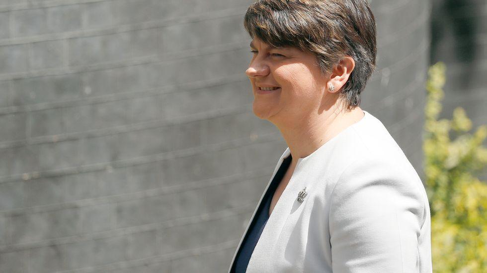 Ledaren för nordirländska DUP, Arlene Foster. Arkivbild.
