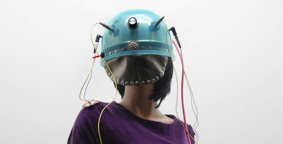 """Suzanne Treister, """"Rodalind Brodskys electronic time travelling costume to go to London in the 1960s"""", 1997."""