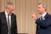 Den fristående, gröna kandidaten Alexander Van der Bellen och högerpopulisten Norbert Hofer.
