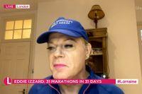 Eddie Izzard i tv-programet Lorraine, januari 2021.
