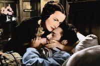 """Olivia de Havilland och Richard Burton i """"My Cousin Rachel"""", 1954."""