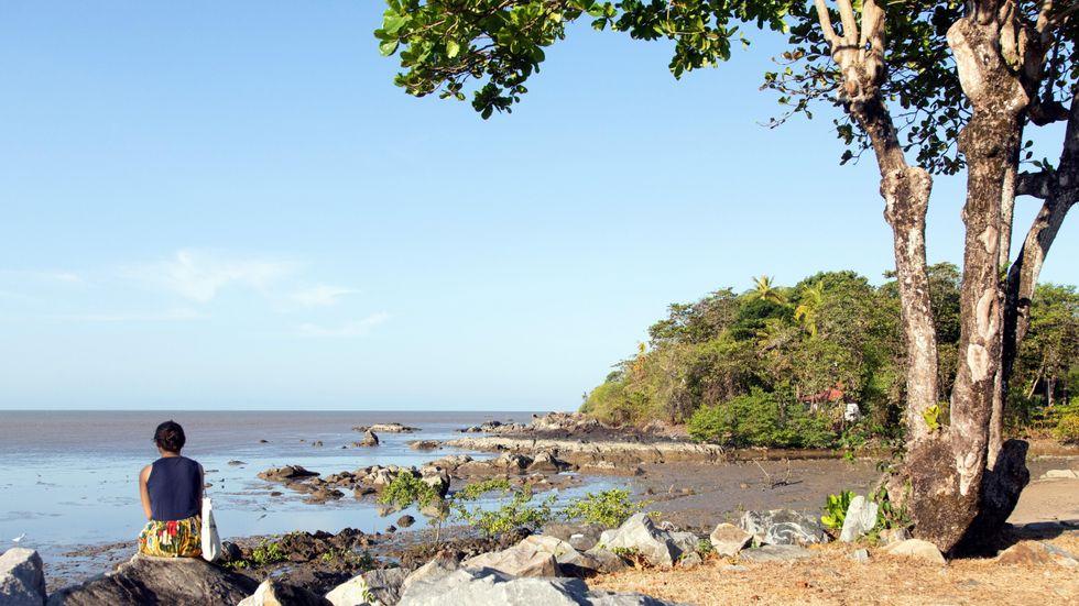 Stranden vid Cayenne.