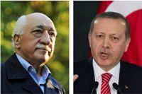 Fethullah Gülen och Recep Tayyip Erdoğan.