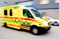 Ambulans under utryckning i Göteborg.