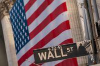 Finansgatan Wall Street i New York. Arkivbild.