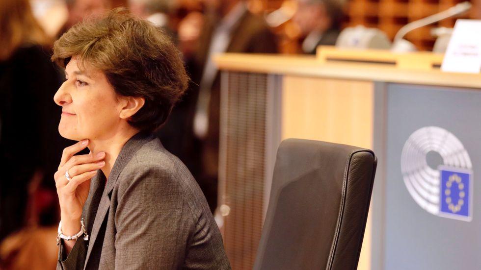 Frankrikes tilltänkta EU-kommissionär Sylvie Goulard under det andra utskottsförhöret på torsdagsmorgonen.