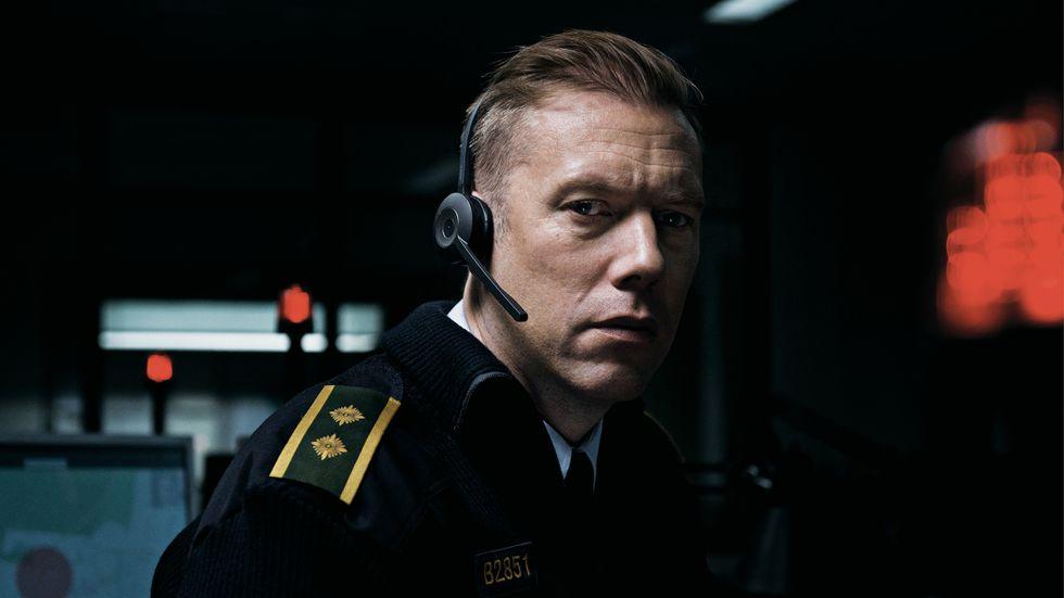 """Jakob Cedergren i danska filmen """"Den skyldige""""."""
