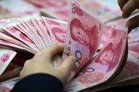 Kinas yuan tappar i värde mot USA-dollarn. Arkivbild.