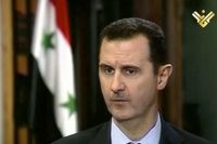 Syriens president Bashar al-Assad och hans regim förnekar alla anklagelser om krigsbrott och brott mot mänskligheten. Arkivbild.