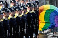 Livgardet deltar i Prideparaden på lördag.
