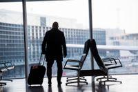 Flygresor stod för 23 procent av myndigheternas koldioxidutsläpp för tjänsteresor. Arkivbild.