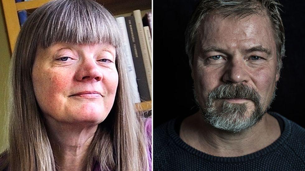 Gun-Britt Sundström och Kristoffer Leandoer lämnar Nobelkommittén.