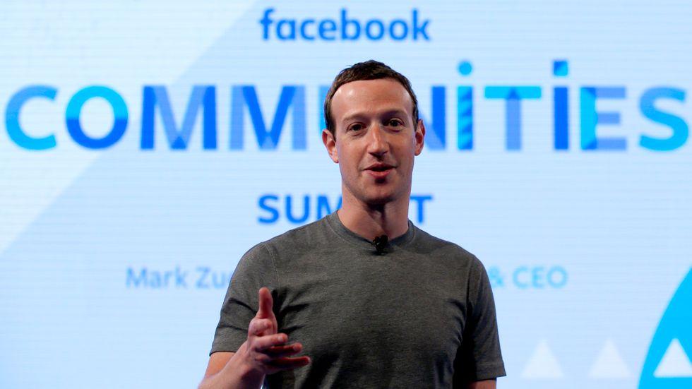 Facebooks vd Mark Zuckerberg. Arkivbild.