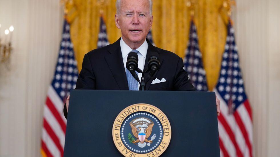 President Joe Biden höll inte igen när han talade till nationen.