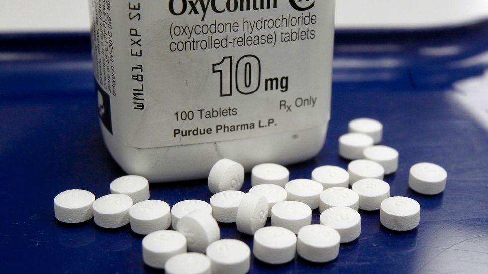 Oxycontin, ett smärtstillande läkemedel som anses ha spelat en central roll i den pågående beroendeepidemin.