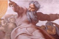 Michelangelos bild av en vredgad Gud skapades 1511 och finns i Sixtinska kapellet, Vatikanen.