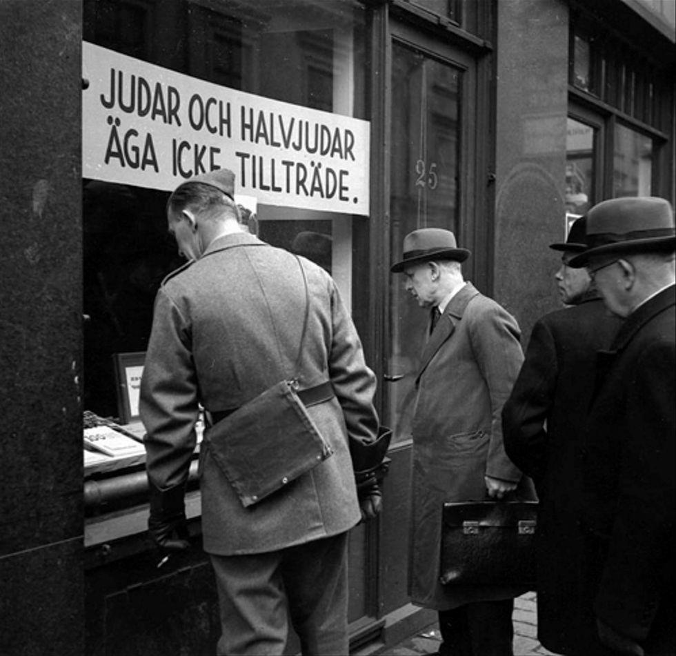Antisemitisk bokhandel i Stockholm i oktober 1941.