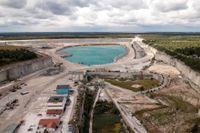 Kalkbrott vid Cementas fabrik i Slite på Gotland. Arkivbild.