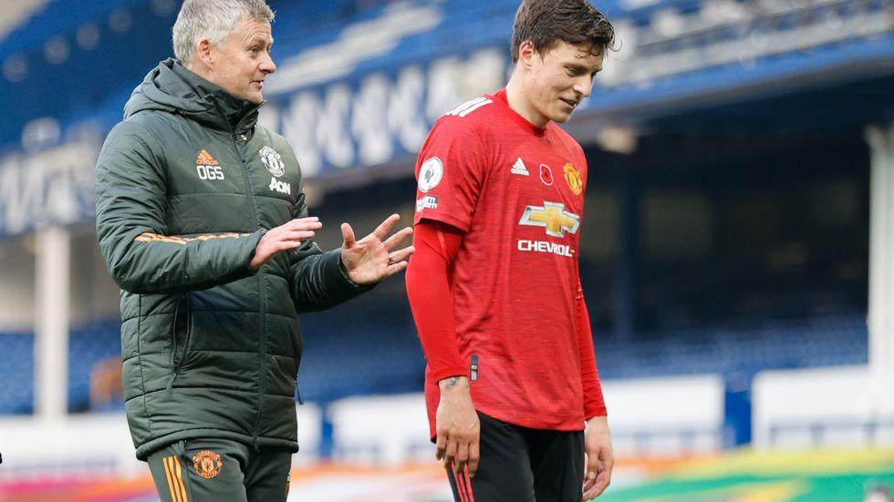 Victor Nilsson Lindelöf fick lämna planen med skada när Manchester United fick 2-2 mot Leicester. Arkivbild.