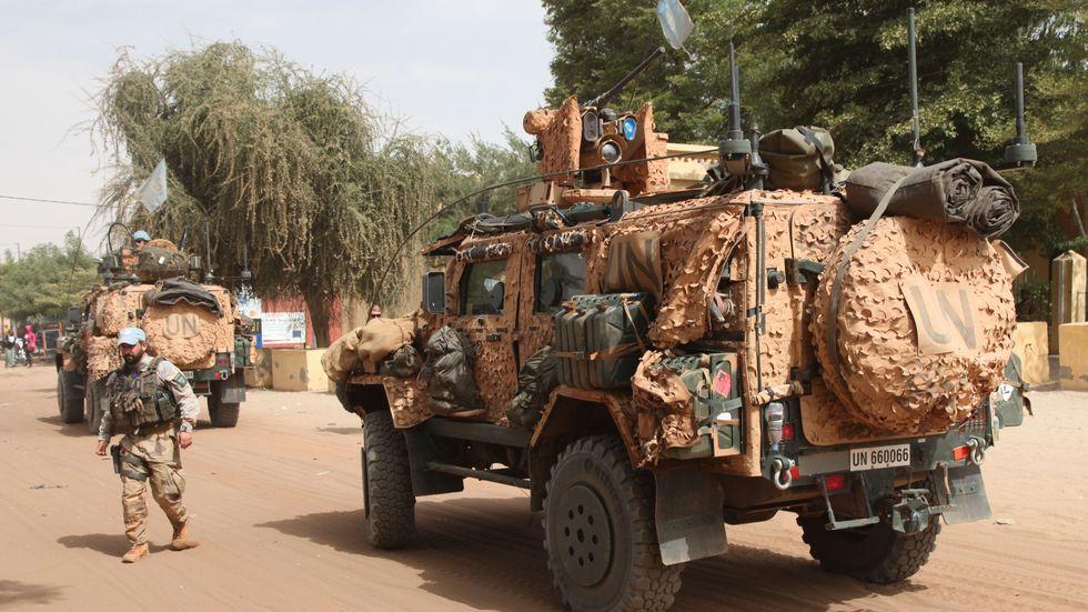 FN-soldater på patrull i Timbuktu i Mali. Arkivbild.