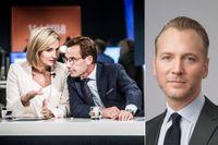Christian Ekström skriver att den riktigt hårda kritiken mot budgeten är att Moderaterna och Kristdemokraterna inte tagit bort utfasningen av jobbskatteavdraget.