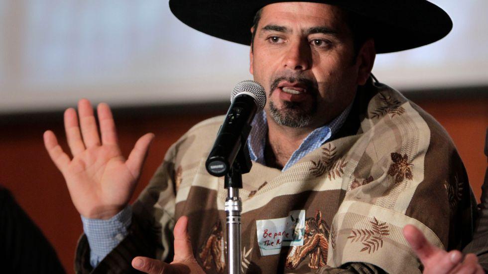 """Mario Sepúlveda har blivit """"Super Mario"""" med världen efter gruvolyckan 2010. Arkivbild."""