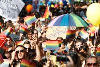 Under lördagen väntas över 20000 deltagare i Prideparaden i Budapest.