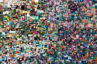 """Konstnären Mike Winkelmanns heldigitala verk """"Everydays: The first 5000 days"""" såldes för drygt 69 miljoner dollar."""