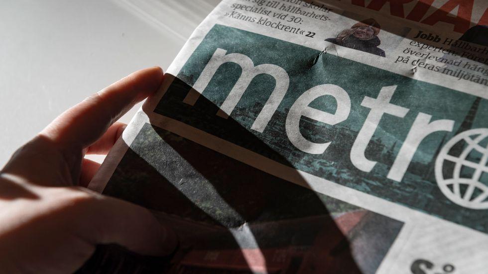 Tidningen Metro. Arkivbild.