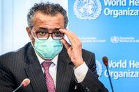 Världshälsoorganisationens (WHO) generalsekreterare Tedros Adhanom Ghebreyesus. WHO menar nu att virusvarianten my – som på engelska kallas mu, behöver undersökas mer. Arkivbild.
