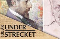Oscar Levertin (1862–1906) och August Strindberg (1849–1912), bägge avporträtterade av Carl Larsson.