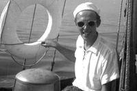 Göran Schildt seglar Daphne, 1949.