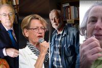 Sven Hirdman, Gudrun Schyman, KG Hammar och Janine O'Keeffe.