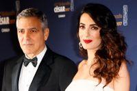 George och Amal Clooney donerar miljonbelopp efter våldsam demonstration. Arkivbild.