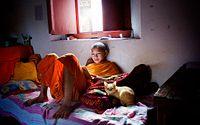 En ung munk i Laos. De flesta pojkar i landet genomgår en period som munkar, ett slags buddhistisktkonfirmationsläger. Samtidigt får de en politisk grundutbildning.