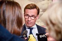 Moderatledaren Ulf Kristersson stakar ut riktlinjerna för en ny moderat klimatpolitik. Arkivbild.