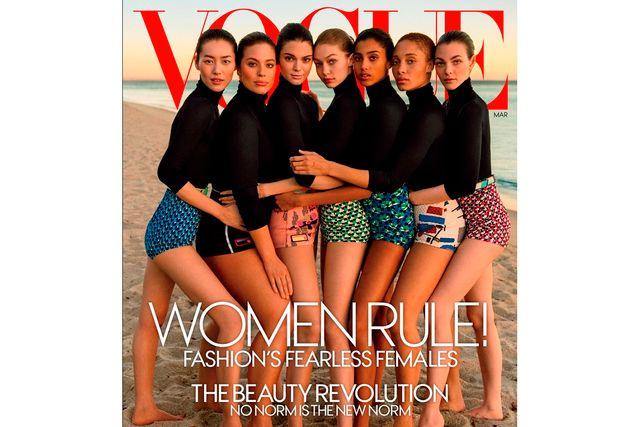 Ashely Graham pryder Vogues omslag med sex andra modeller.