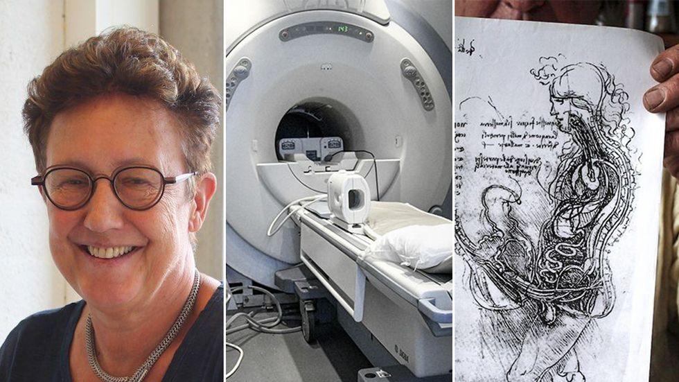 """Ida Sebelis sexakt i en MR-scanner """"överbevisade"""" da Vinci."""