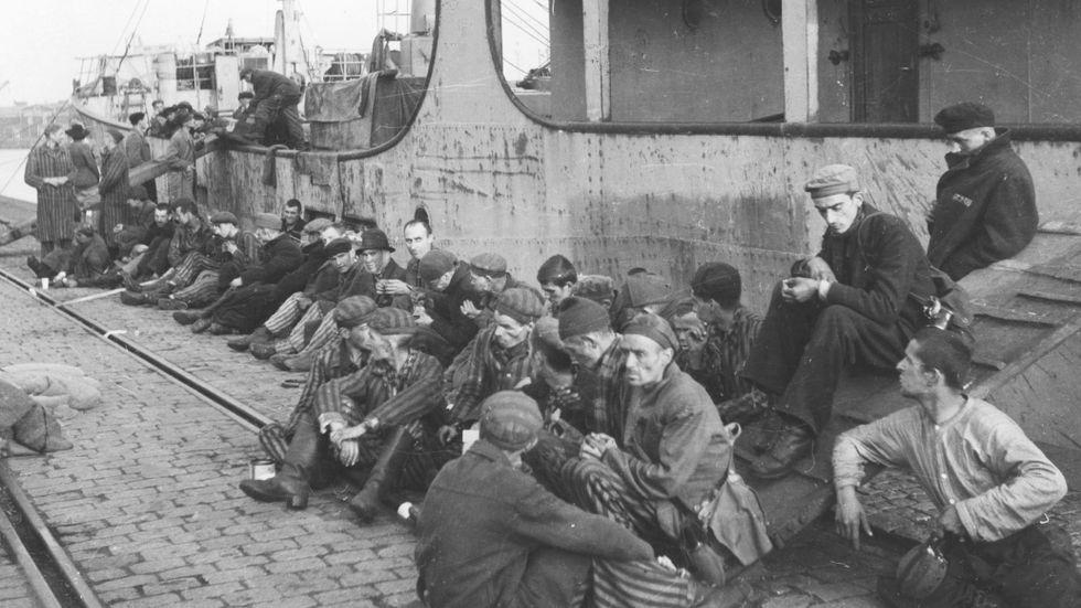 Överlevande judar från nazisternas utrotningsläger i Malmö 1945. Under mellankrigstiden togs mycket få judiska flyktingar emot i Sverige.