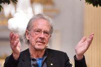 Peter Handke på besök i Stockholm i samband med Nobelprisutdelningen i december.