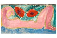 """Vanessa Bell, """"Nude with poppies"""", 1916."""